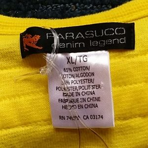 Parasuco Tops - PARASUCO DENIM CULT LEGEND YELLOW TANK NWT
